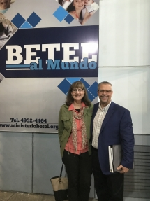 Brent and Bonnie Johnson in Argentina teaching at the University