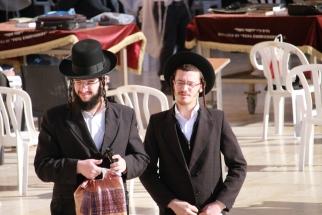 Jewish men at Western Wall
